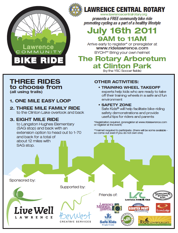 Community Bike Ride Flier